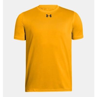 アンダーアーマー キッズ Tシャツ Under Armour UA Locker T-Shirt 半袖 Steeltown Gold / Black