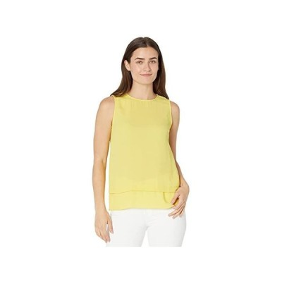 Vince Camuto Sleeveless Double Layer Blouse レディース シャツ トップス Citronelle
