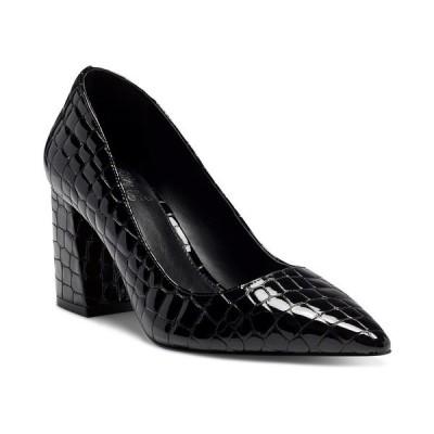 ヴィンスカムート パンプス シューズ レディース Women's Frittam Pointed-Toe Block-Heel Pumps Black Croco