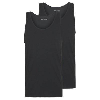 ピアワン カットソー メンズ トップス 2 PACK - Top - black