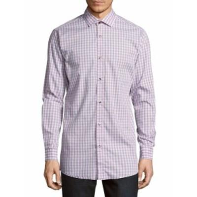 サックスフィフスアベニュー メンズ カジュアル ボタンダウンシャツ Regular-Fit Gingham Cotton Sportsh