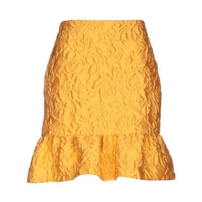 モスキーノ MOSCHINO ひざ丈スカート オレンジ 44 ポリエステル 84% / シルク 10% / ナイロン 6% ひざ丈スカート