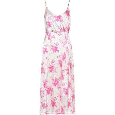レ レヴェリズ Les Reveries レディース ワンピース ミドル丈 ワンピース・ドレス Floral silk midi dress Garden Bouquet