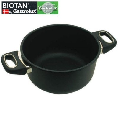 BIOTAN IH対応 両手浅鍋 20cm 深さ9cm 17720 バイオタン ガストロラックス
