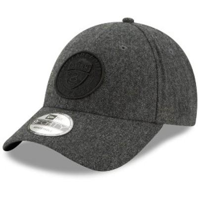 ニューエラ メンズ 帽子 アクセサリー Philadelphia Union New Era Herringbone 9FORTY Adjustable Hat Gray