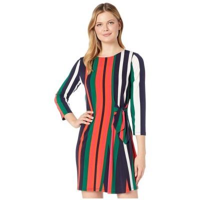 ロンドンタイムス London Times レディース ワンピース ワンピース・ドレス Tie Detail Long Sleeve Shift Green/Orange