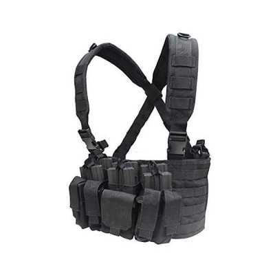 CONDOR(コンドル) タクティカルギア MCR5 リーコンチェストリグ(ポーチ3個・ポケット4個) ブラック