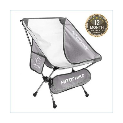 Hitorhike Camping Chair Breathable Mesh Construction 2 Side Pockets Aluminum Frame Camp Chair with Carry Bag Compact and Lightweight Folding Chair for