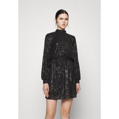 ニリーバイネリー レディース ワンピース トップス HIGH NECK SEQUIN DRESS - Cocktail dress / Party dress - black black