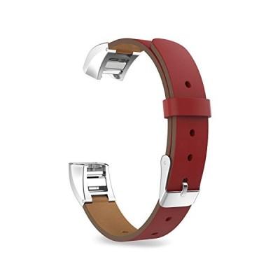 Xberstar Fitbit Alta HR/Fitbit Alta バンド ベルト 交換ベルト 革製 クイックリリース式 4色あり (赤)