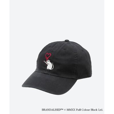 <STARTER/スターター> BANKSY ART CAP LOVE RAT(BRICK WALL) ブラック【三越伊勢丹/公式】