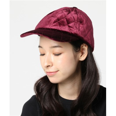 WEGO / WEGO/キルティングベロアキャップ WOMEN 帽子 > キャップ