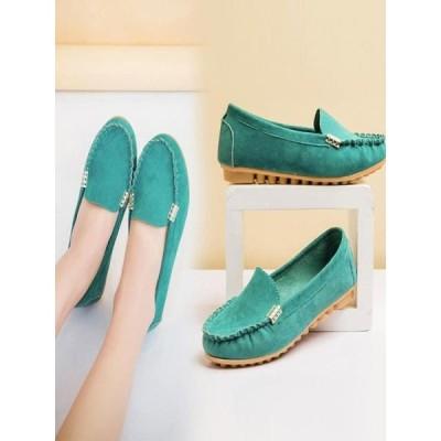 レディース 靴 フラット Mosunx Women's Flats Ladies Comfy Ballet Shoes Soft Slip-On Casual Boat Shoes