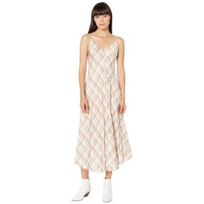 ヴィンス レディース ワンピース トップス Hazy Plaid Cami Dress