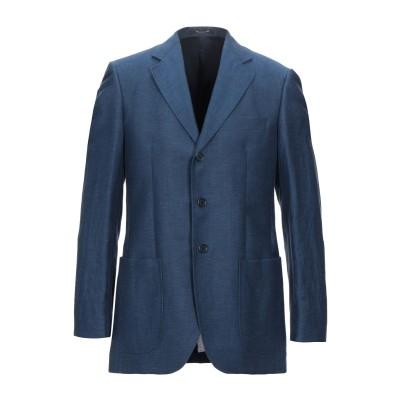 LUBIAM テーラードジャケット ブルーグレー 46 リネン 58% / バージンウール 42% テーラードジャケット