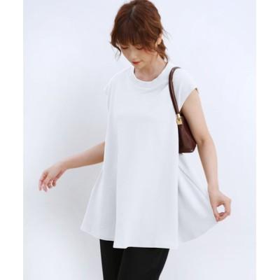 (Doux Belle/ドゥーベル)レディースファッション通販 トップス ノースリーブ ブラウス レディース  Tシャツ ボートネック ワッフル生地 おしゃれ ゆったり 大きいサイズ 無地/レディース ホワイト