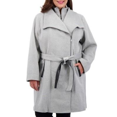 ヴィンスカムート レディース コート アウター Plus Size Belted Wrap Coat