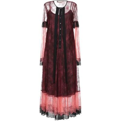 ツインセット シモーナ バルビエリ TWINSET 7分丈ワンピース・ドレス ボルドー 40 ナイロン 100% 7分丈ワンピース・ドレス