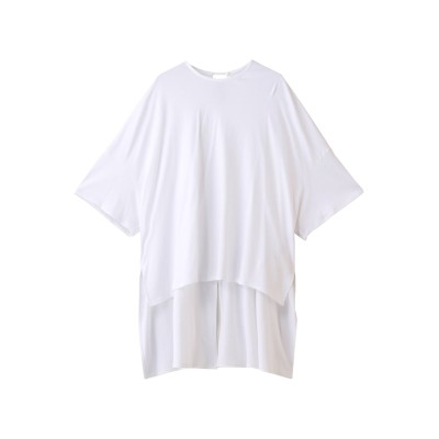 HAVEL studio ハーヴェル スタジオ 40GコットンビッグTシャツ レディース ホワイト 38