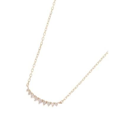 ネックレス ダイヤモンド グラデーションアーチ ネックレス