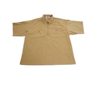 ベンデイビス(BEN DAVIS)ハーフジップ半袖シャツ 0580041-BEG