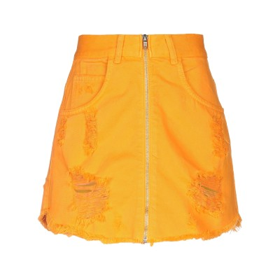 コンタット KONTATTO デニムスカート オレンジ M コットン 100% デニムスカート