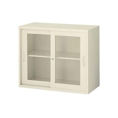 生興   クウォール システム収納庫 枠付2枚ガラス引戸書庫 W900×D400×H750 RG4-07SG