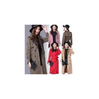 【セール】トレンチコート レディース ロングコート SI トレンチ コート テロンチ スプリングコート  ガウンコート ロング  大きいサイズ