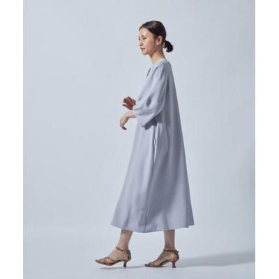 LAUTREAMONT/ロートレアモン 【WEB別注】麻調合繊ワンピース ライトブルー 9号