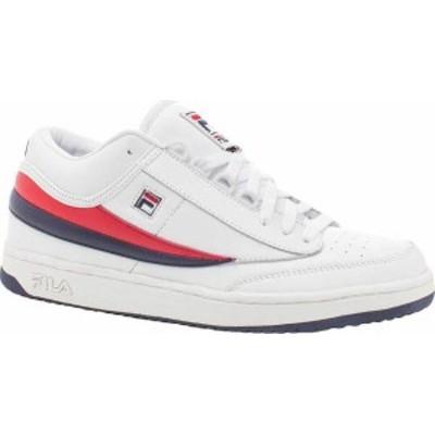 フィラ メンズ スニーカー シューズ T1-Mid White/Fila Navy/Fila Red