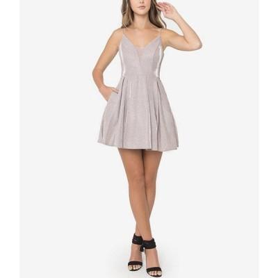 ビーダーリン レディース ワンピース トップス Sleeveless Metallic Shine Fit-And-Flare Dress