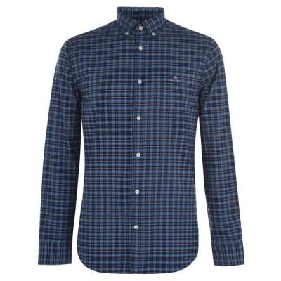 ガント Gant メンズ シャツ トップス Check Long Sleeve Shirt Navy