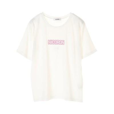 半袖tシャツ レディース tシャツ 半袖 カットソー ロゴ ブランド NiCORON ニコロン 得トクセール tシャツ セール sale