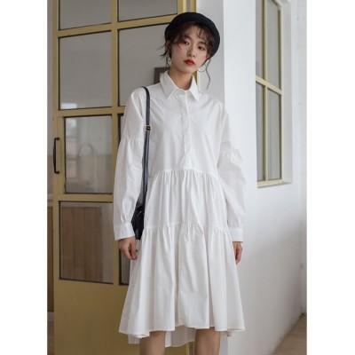 【ガーリードール】 シャツワンピース レディース ホワイト M Girly Doll