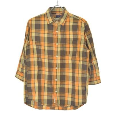 BACK NUMBER / バックナンバー フレンチリネンチェック柄 七分袖シャツ