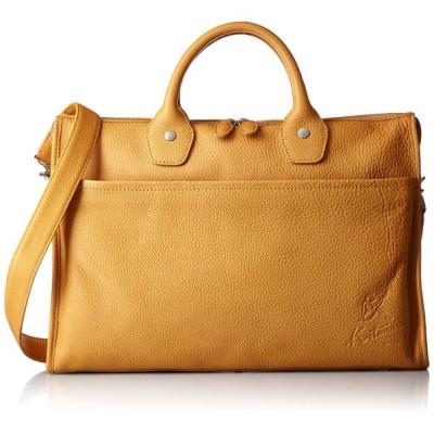 [キタムラ] ビジネスバッグ 2way Y-0682 キャメル/オレンジステッチ [茶色] 61421 斜め掛けバッグ