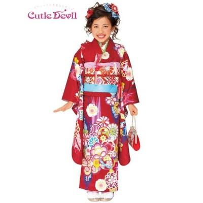 女の子7歳着物22点セット合繊 キューティーデビルCA702