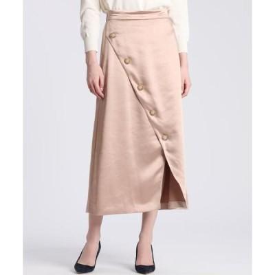ef-de L / エフデ(エルサイズ) 《大きいサイズ》フロントクロスサテンスカート 《Maglie par ef-de》