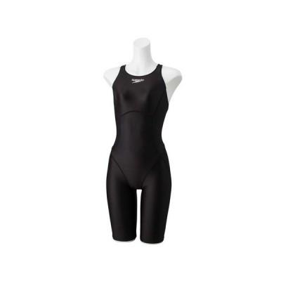 スピード(SPEEDO) フレックスアルファセミオープンバックニースキン 競泳水着 FINA承認 SCW12001F K (レディース)