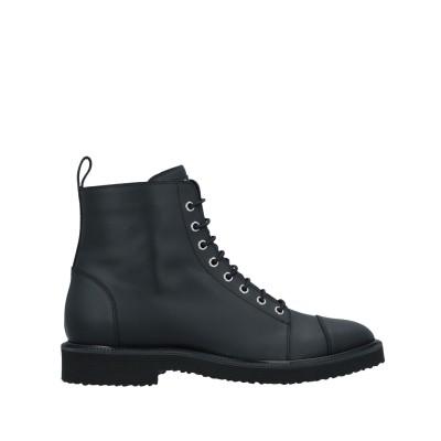 ジュゼッペ・ザノッティ・デザイン GIUSEPPE ZANOTTI ショートブーツ ブラック 45 革 ショートブーツ