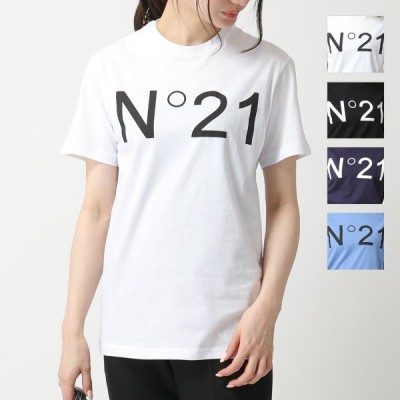 N°21 ヌメロ ヴェントゥーノ F021 6332 6317 カラー4色 半袖 Tシャツ クルーネック カットソー ロゴ レディース