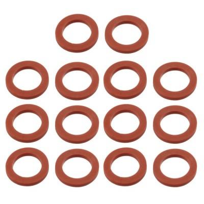 uxcell シールリング カバーキャップ 24mm x 16mm x 3mm シリコン レッド 14個入り
