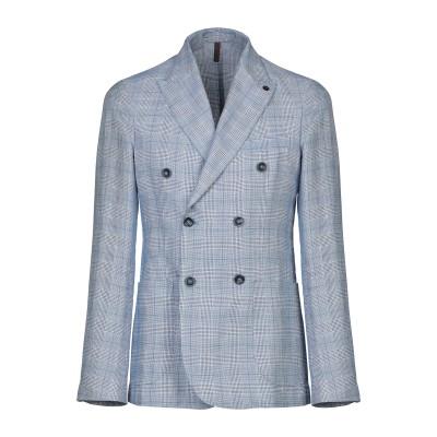 LABORATORI ITALIANI テーラードジャケット ブルー 48 リネン 68% / コットン 32% テーラードジャケット