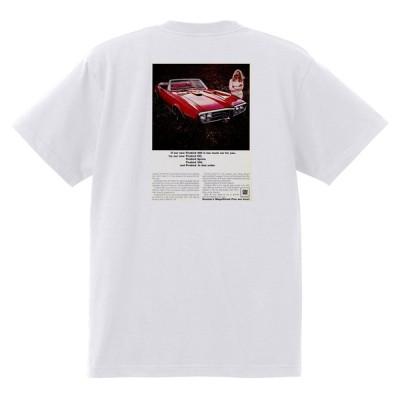 アドバタイジング ポンティアック 384 白 Tシャツ 黒地へ変更可能  1967 ルマン グランプリ gto ファイアバード アメ車