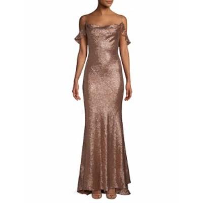 レイチェルゾー レディース ワンピース Celia Cold-Shoulder Metallic Gown