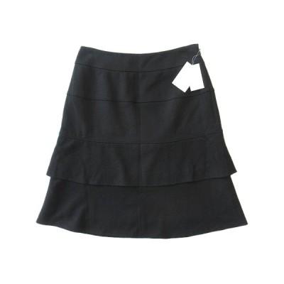 【中古】未使用品 オフオン ofuon ウール ハーフ フレア スカート サイズ38 黒 ブラック レディース ▼2 レディース 【ベクトル 古着】