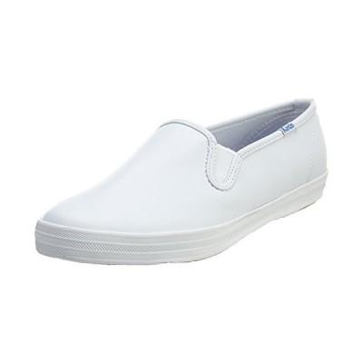 Keds Women's Champion Slip On Leather Sneaker, White, 11