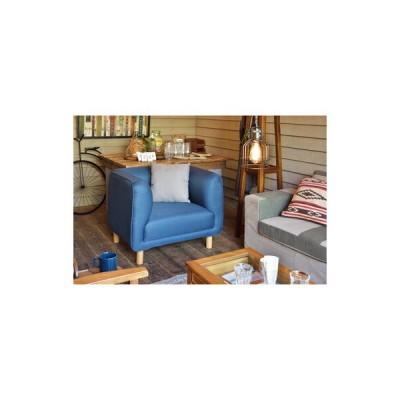 ソファー 1人掛け 椅子 テレワーク 在宅 チェア 一人暮らし コンパクト ミニ 小さめ ネイビー ブルー 青 約 幅90 奥行73 高さ72 座面高42