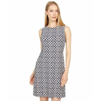 トミー ヒルフィガー レディース ワンピース トップス Printed Jersey A-Line Dress Sky Captain/Ivory