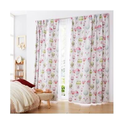 色鮮やかな気球柄がクラシカルな雰囲気の遮光カーテン ドレープカーテン(遮光あり・なし) Curtains, blackout curtains, thermal curtains, Drape(ニッセン、nissen)